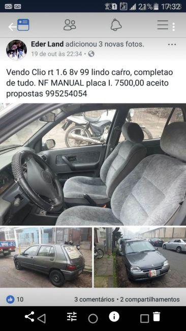 Renault Clio Hatch. RT 1.6 8V - Foto #1