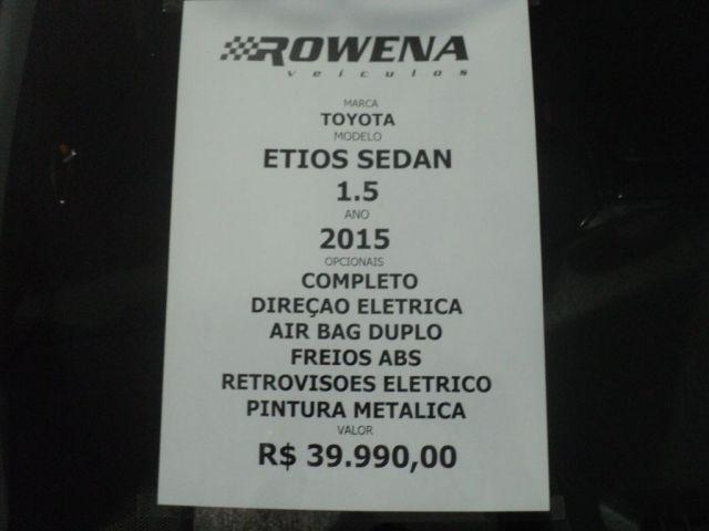 Toyota Etios Sedan X 1.5 16V Flex - Foto #8