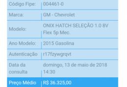 Chevrolet Onix 1.0 SPE/4 Seleção