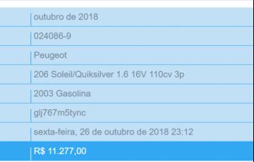 Peugeot 206 Hatch. Soleil 1.6 16V 2p
