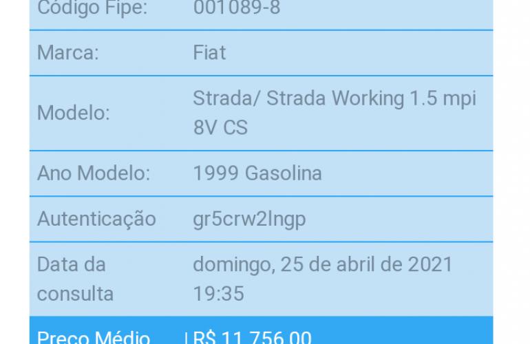 Fiat Strada Working 1.5 MPi - Foto #1