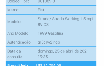Fiat Strada Working 1.5 MPi