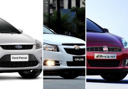 Hatches médios: Focus x Cruze x Bravo