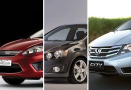 Sedans compactos premium: New Fiesta x Sonic x City