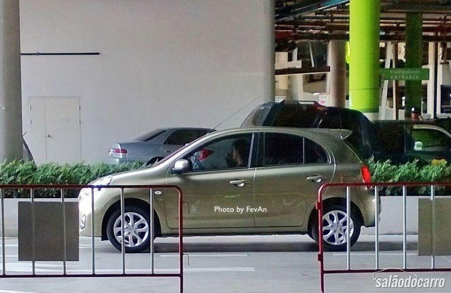 Nissan March reestilizado aparece na Tailândia