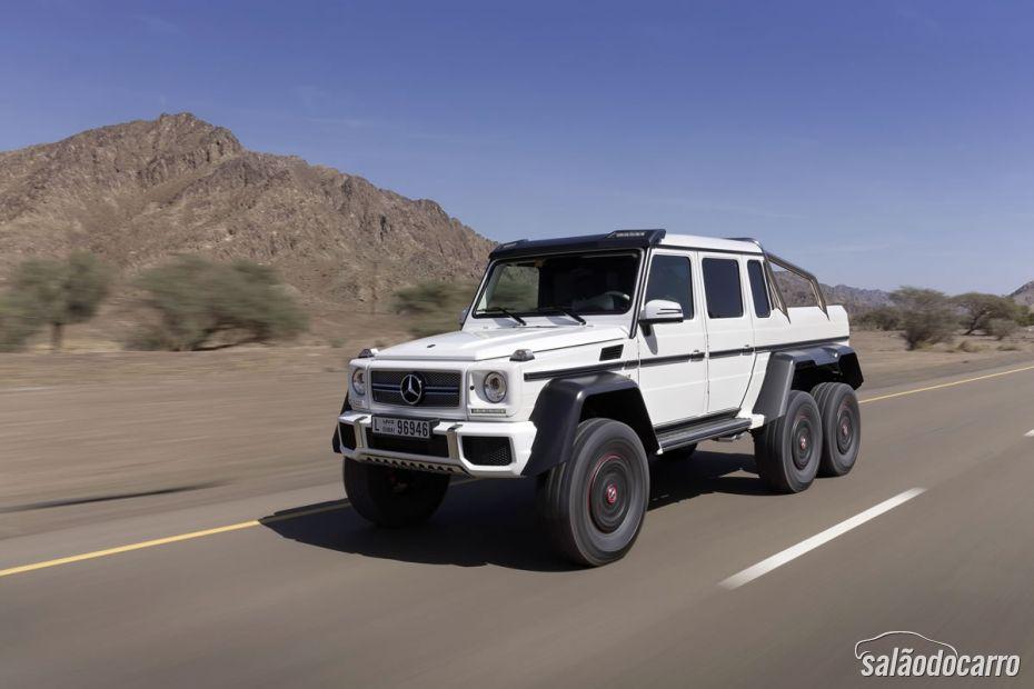 Mercedes-Benz apresenta seu carro de seis rodas