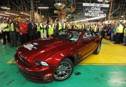 Ford comemora 1 milhão de unidades do Mustang