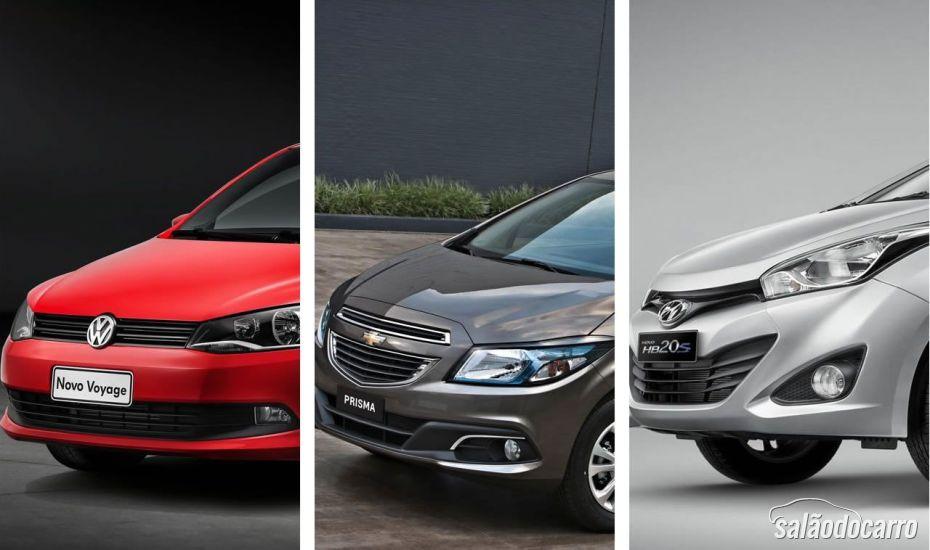 Sedans compactos: Voyage x Prisma x HB20S