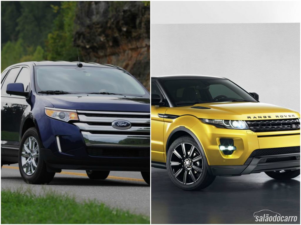 Crossovers Ford Edge X Range Rover Evoque