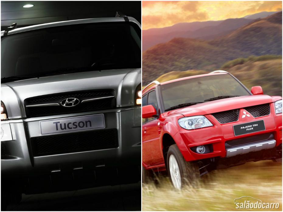 SUV's compactos: Tucson x Pajero TR4