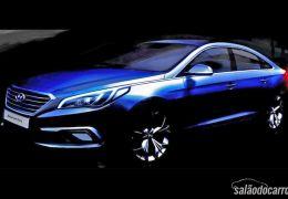 Imagem do novo Hyundai Sonata é revelada ao público