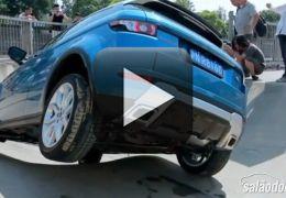 Vídeo mostra Range Rover Evoque realizando manobras de skate