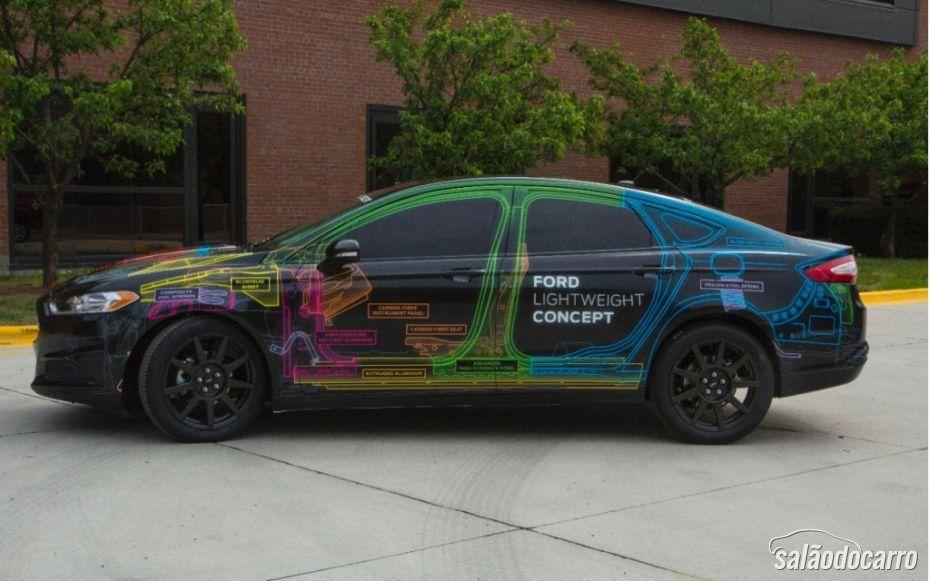Novo conceito do Ford Fusion pesa apenas 1.195 kg