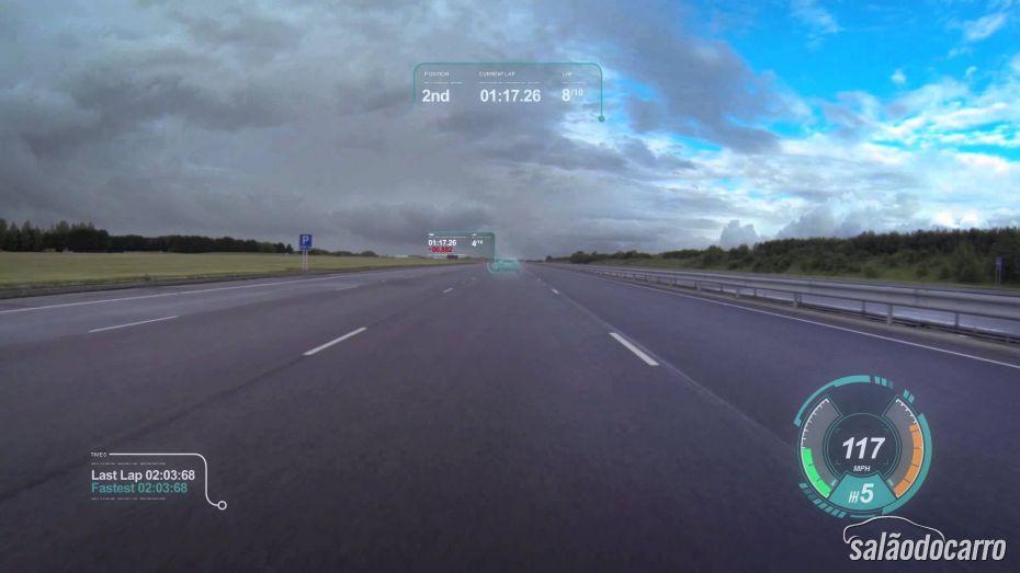 """Confira uma demonstração do novo """"Virtual Windscreen Concept"""" da Jaguar"""
