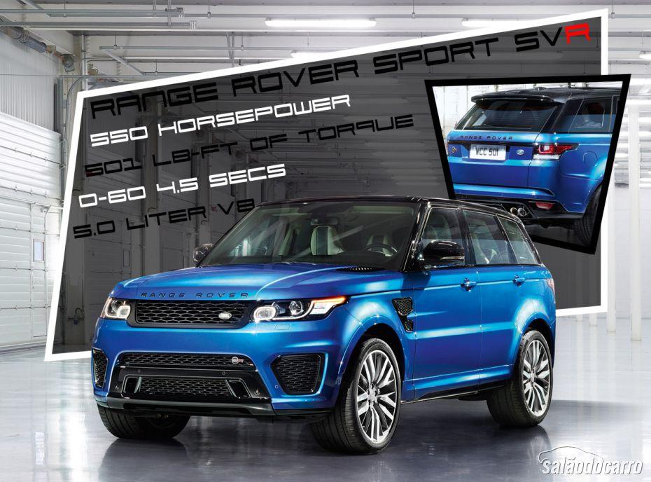 Land Rover divulga vídeo com Range Rover Sport SVR