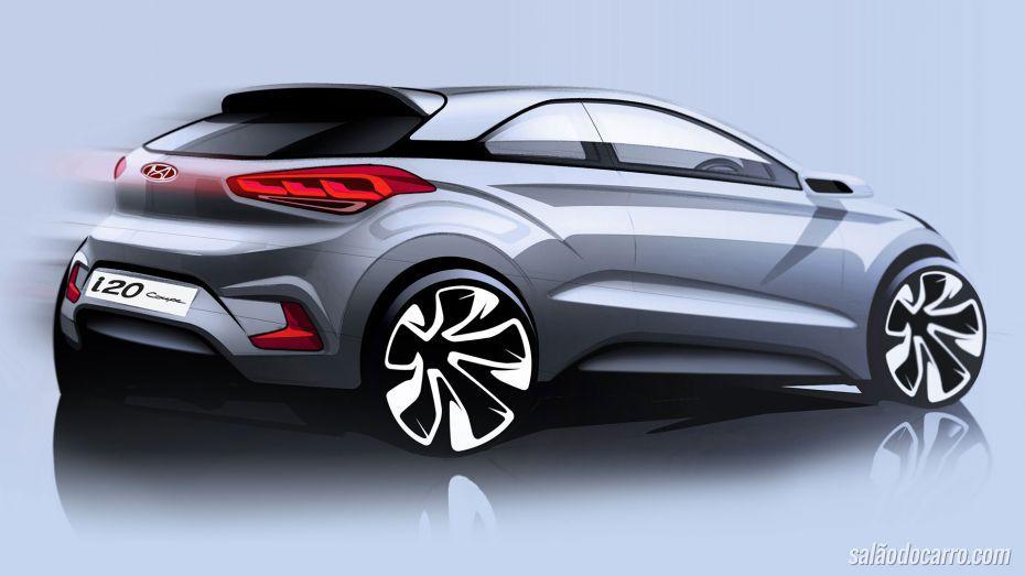 Hyundai divulga imagem oficial do novo i20 Coupé