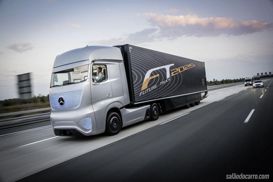 Confira o incrível caminhão do futuro da Mercedes