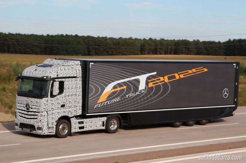 Mercedes benz revela o future truck 2025 revista sal o for 2014 mercedes benz truck
