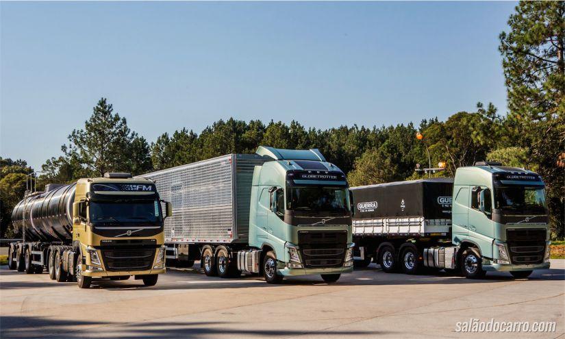 Linha 2015 dos caminhões Volvo FM, FMX e FH