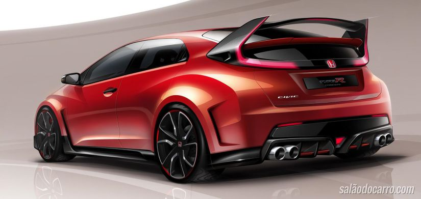 Honda libera vídeo do novo Civic Type R 2015