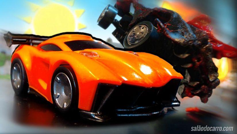 Confira esta incrível corrida de carrinhos de brinquedo em stop-motion