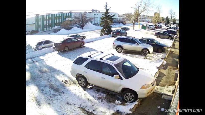 """Mulher ganha o título de """"pior motorista de Calgary"""""""