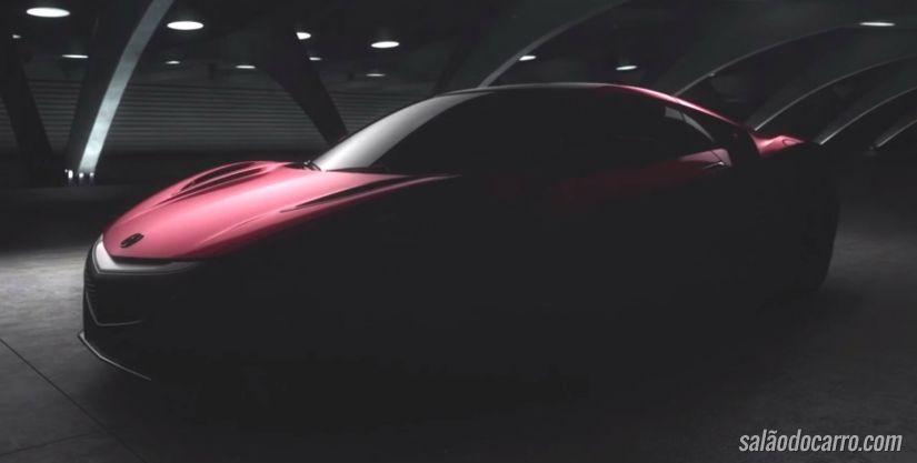 Confira o teaser do novo Acura NSX 2016
