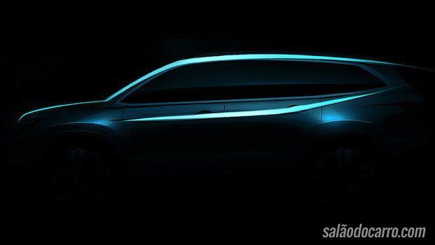 Honda confirma lançamento do SUV Pilot 2016 no Salão de Chicago