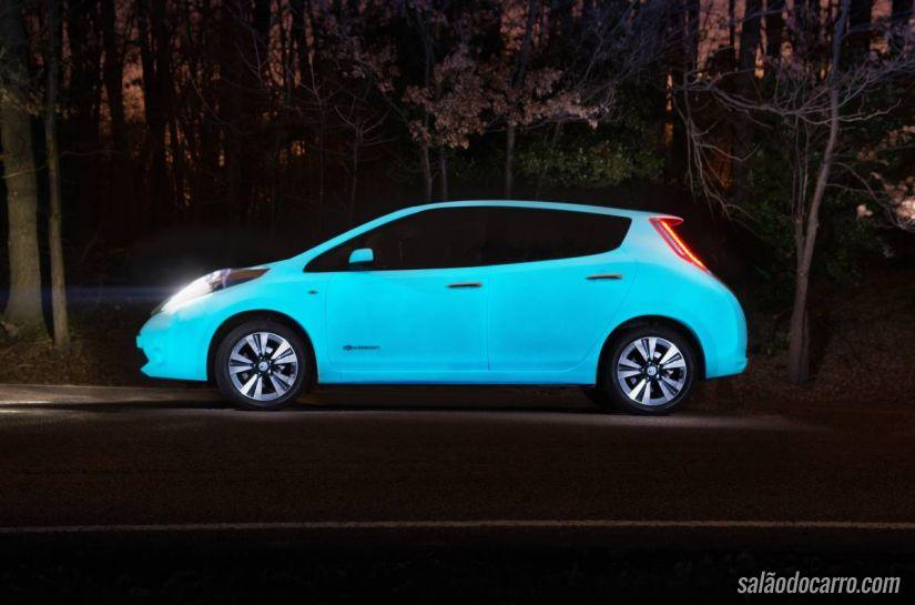 Nissan divulga vídeo de carro com pintura que brilha no escuro