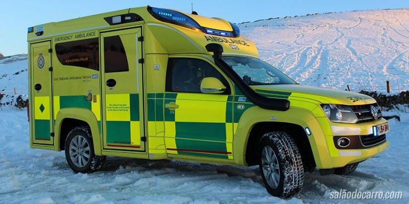 Amarok ganha versão ambulância no Reino Unido