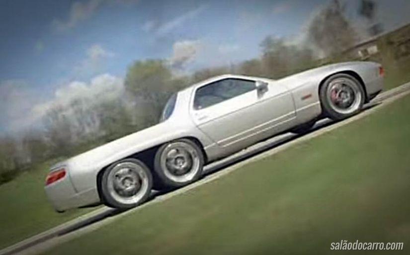 Alemão transforma um Porsche 928 GTS em uma picape de seis rodas