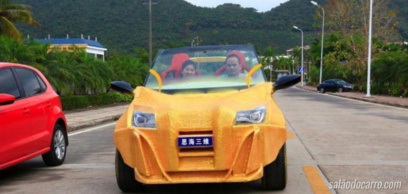 Chineses lançam carro com impressora 3D