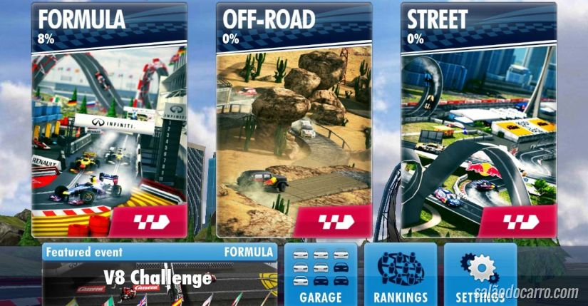 Red Bull lança game de corrida para dispositivos móveis