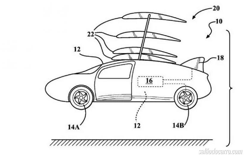 Toyota registra patente de carro voador
