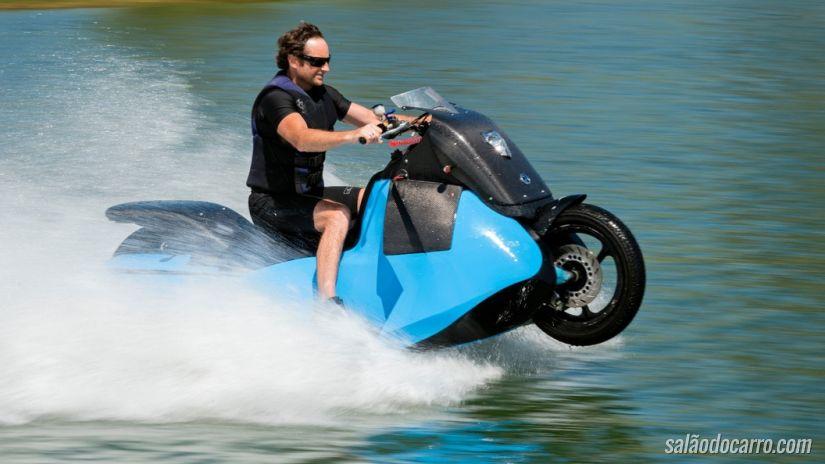 Você conhece a moto anfíbia Biski?
