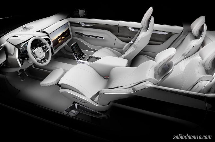 """Novo carro-conceito da Volvo oferece poltrona """"de avião"""" e dirige sozinho"""