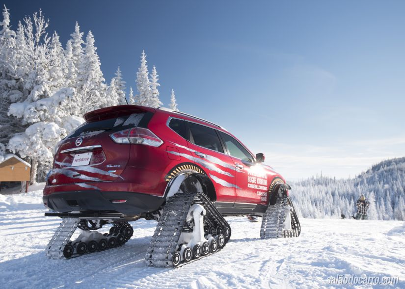 Carro da Nissan ganha configuração especial para andar na neve