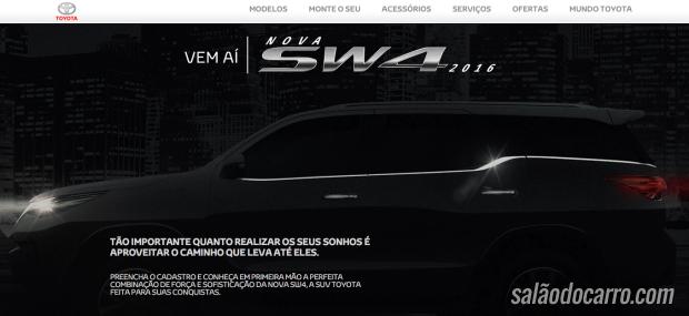 Confira o vídeo do novo SW4 da Toyota