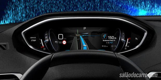 Peugeot mostra novo painel do 3008