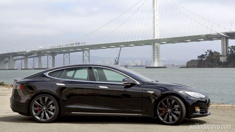 Tesla Model S chegará ao Brasil