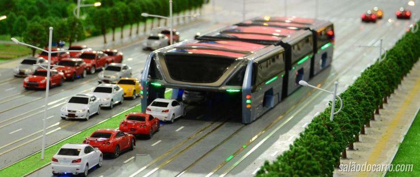 China apresenta projeto de ônibus do futuro