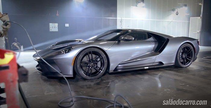Vídeo mostra Ford GT passando por teste em túnel de vento
