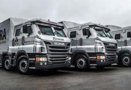 Scania começa a vender caminhões semipesados 8X2 blindados