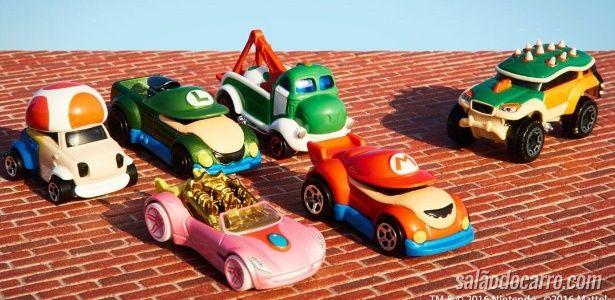 Mario e sua turma viram carros da HotWheels