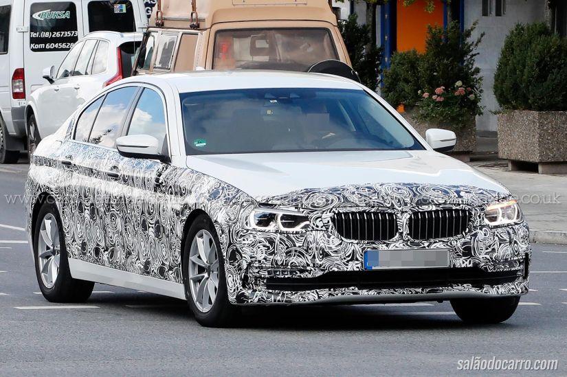 BMW divulga teaser da nova geração do Série 5