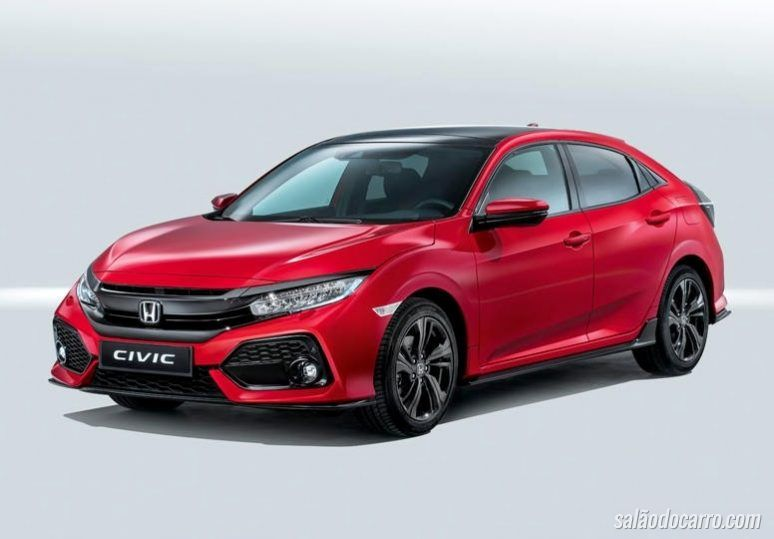 Com motor 1.0 turbo, Civic Hatch europeu é revelado