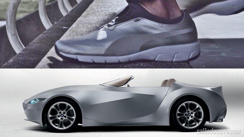 BMW e Puma criam tênis moderno e com materiais diferentes