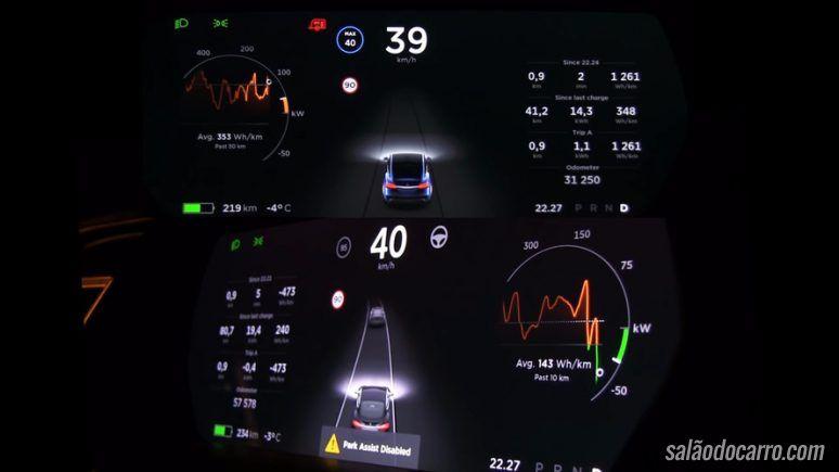 Vídeo mostra carro da Tesla sendo recarregado com reboque