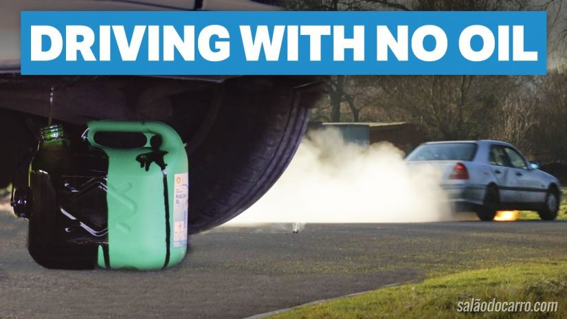 Vídeo mostra quanto tempo carro roda sem óleo