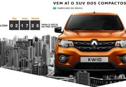Renault libera data da pré-venda do Kwid
